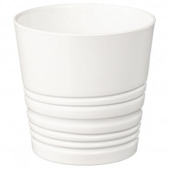 IKEA MUSKOT Ghiveci, alb, 9 cm