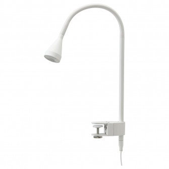 IKEA NAVLINGE Aplica LED/spot clema, alb