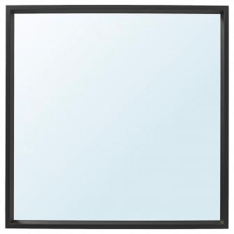 IKEA NISSEDAL Oglinda, negru, 65x65 cm