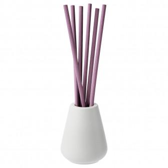 IKEA NJUTNING Vaza+6 beTiToare parfumate, lavanda, lila