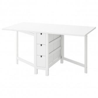 IKEA NORDEN Masa plianta, alb, 26/89/152x80 cm