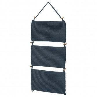IKEA NORDRANA Buzunare depozitare, albastru, 35x90 cm