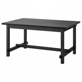 IKEA NORDVIKEN Masa extensibila, negru, 152/223x95 cm