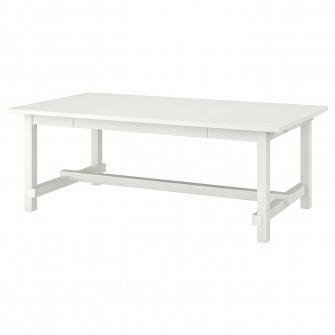 IKEA NORDVIKEN Masa extensibila, alb, 210/289x105 cm