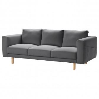 IKEA NORSBORG Canapea 3 locuri, Finnsta gri i gri inchi