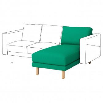 IKEA NORSBORG Sectiune sezlong, Edum verde deschis, mes