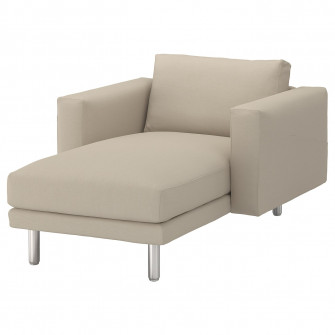 IKEA NORSBORG Sezlong, Edum bej, metal