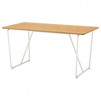 IKEA OVRARYD Masa, alb bambus, Backaryd bmb alb, 150x78