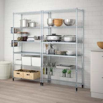 IKEA OMAR 2 sectiuni polite, 197x36x181 cm