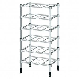 IKEA OMAR Suport sticle, galvanizat, 46x36x94 cm