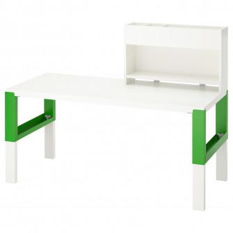 IKEA PAHL Birou + unitate suplimentara, alb, verde, 128