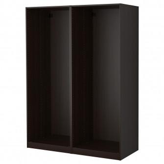 IKEA PAX 2 cadre dulap, negru-maro, 150x58x201 cm