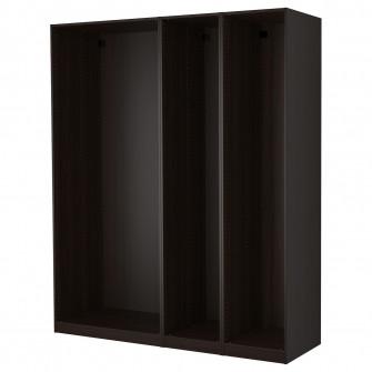 IKEA PAX 3 cadre dulap, negru-maro, 200x58x236 cm