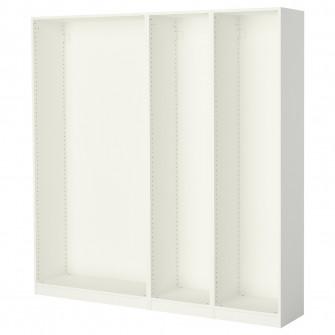 IKEA PAX 3 cadre dulap, alb, 200x35x201 cm