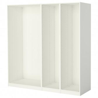 IKEA PAX 3 cadre dulap, alb, 200x58x201 cm