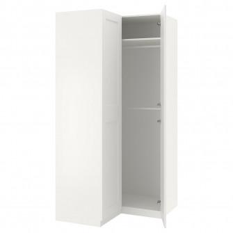 IKEA PAX Dulap colt, alb, Grimo alb, 111/111x236 cm