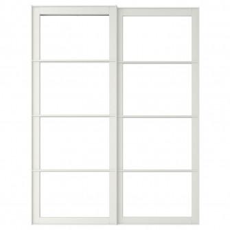 IKEA PAX 2 cadre usi glisante cu sina, alb, 150x236 cm