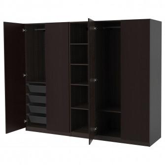 IKEA PAX Dulap, negru-maro, Forsand aspect frasin vopsi