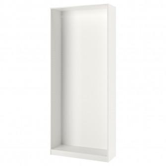 IKEA PAX Cadru dulap haine, alb, 100x35x236 cm