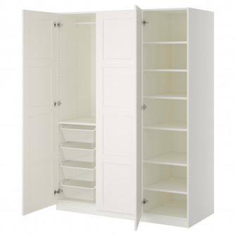 IKEA PAX Dulap, alb, Bergsbo alb, 150x60x201 cm