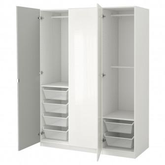 IKEA PAX Dulap, alb, Fardal Vikedal, 150x60x201 cm