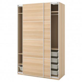 IKEA PAX Dulap, aspect stejar antichizat, Mehamn aspect