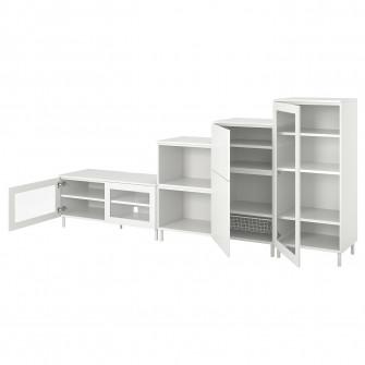 IKEA PLATSA Ansamblu depozitare media, 300x42x131 cm