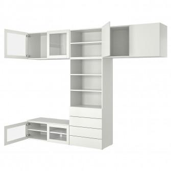 IKEA PLATSA Ansamblu depozitare media, 320x42x241 cm
