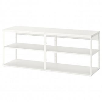 IKEA PLATSA Etajera deschisa, alb, 160x40x63 cm