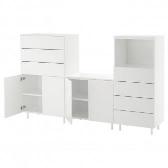 IKEA PLATSA Ansamblu depozitare, alb, Fonnes alb, 220x4