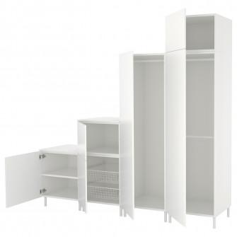 IKEA PLATSA Dulap, alb, Fonnes alb, 240x57x231 cm