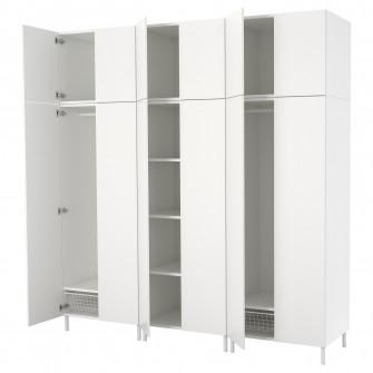 IKEA PLATSA Dulap, alb, Fonnes alb, 240x57x251 cm