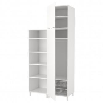 IKEA PLATSA Dulap, alb, Fonnes alb, 120x57x251 cm