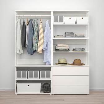 IKEA PLATSA Dulap 2usi+3sertare - alb, Fonnes alb