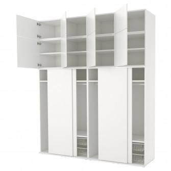 IKEA PLATSA Dulap, alb, Fonnes alb, 240x61x281 cm