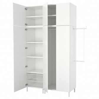 IKEA PLATSA Dulap, alb, Fonnes alb, 175-200x57x251 cm