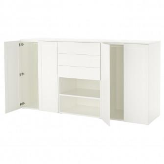 IKEA PLATSA Dulap, alb, Fonnes Sannidal, 240x57x123 cm