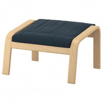 IKEA POANG Taburet, furnir mesteacan, Hillared albastru
