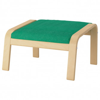 IKEA POANG Taburet, furnir mesteacan, Lysed verde desch
