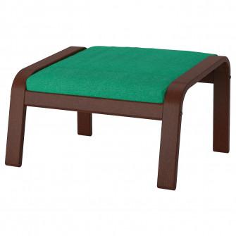 IKEA POANG Taburet, maro, Lysed verde deschis