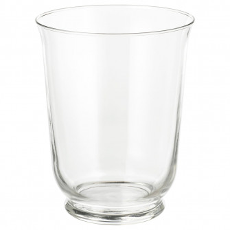 IKEA POMP Vaza/suport lumanare, sticla transparenta