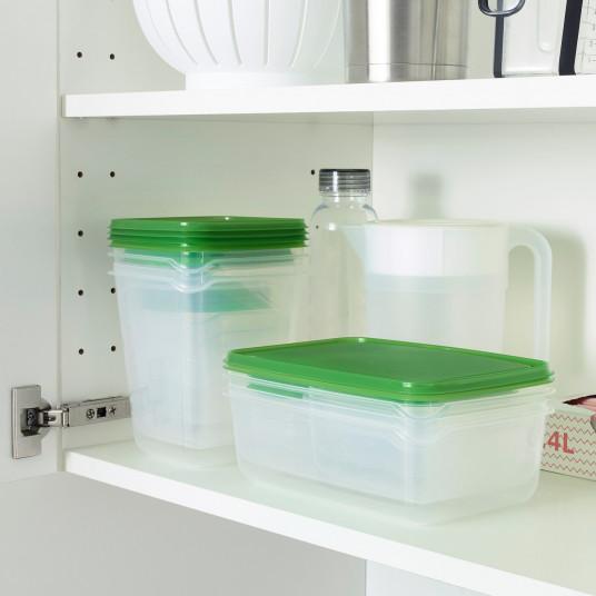IKEA PRUTA Caserola, set de 17buc., transparent, verde