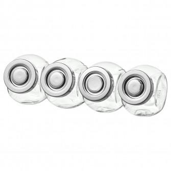 IKEA RAJTAN Borcan mirodenii, sticla, aluminiu, 15 cl