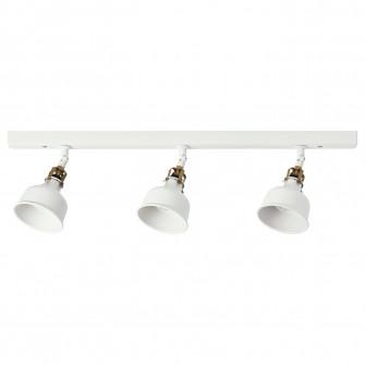 IKEA RANARP Tina tavan 3 spoturi, alb alb