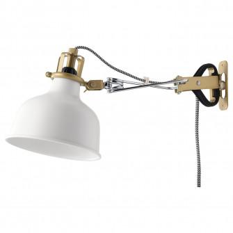 IKEA RANARP Aplica/spot clema, alb