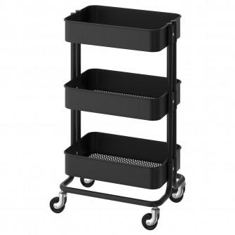 IKEA RASKOG Carucior, negru