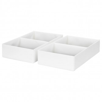 IKEA RASSLA Cutie compartimentata, alb, 25x41x9 cm