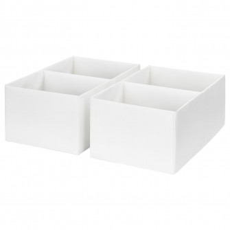 IKEA RASSLA Cutie compartimentata, alb, 25x41x16 cm