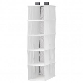 IKEA RASSLA Depozitare + 5 compartimente, alb, 25x40x98