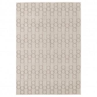 IKEA RINDSHOLM Covor, tesatura plata, bej, 160x230 cm